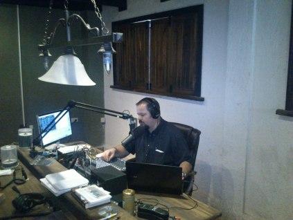 Tom preaching at Compassion Radio In Chiapas, Mexico